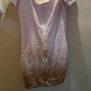 Off the shoulder gold ombré dress